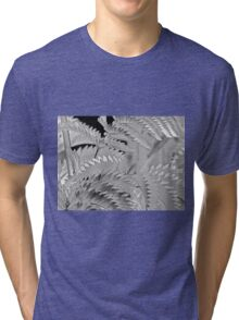 Shimmery, Silvery, Leafy, Zig-Zag - Abstract Tri-blend T-Shirt