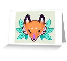Pixel Fox Greeting Card