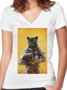 Space Jag Women's Fitted V-Neck T-Shirt