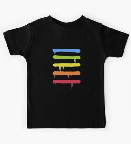Trendy Cool Graffiti Tag Lines Kids Tee