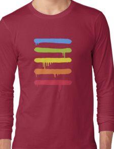 Trendy Cool Graffiti Tag Lines Long Sleeve T-Shirt
