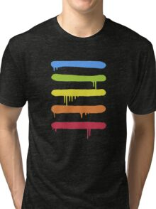 Trendy Cool Graffiti Tag Lines Tri-blend T-Shirt