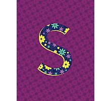 Flower Letter S Photographic Print