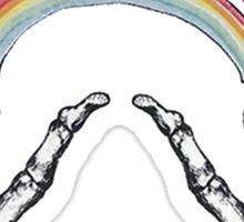 1D Louis Tomlinson Rainbow Hands Tattoo Sticker