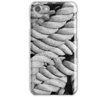 Closeup of an old frayed boat rope.  iPhone Case/Skin