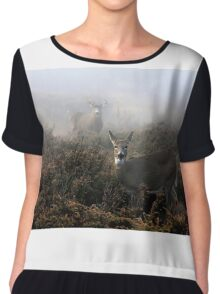 The rut is on! - White-tailed deer  Chiffon Top