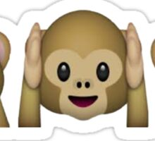 See No Evil, Hear No Evil, Speak No Evil Sticker