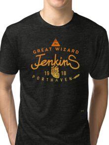 THE GREAT WIZARD JENKINS - burningheart Tri-blend T-Shirt