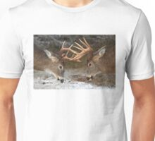 Clash of the Titans - White-tailed deer Unisex T-Shirt
