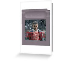 Eleven - Stranger Things - Game Greeting Card
