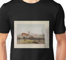 African Scenery and Animals Samuel and William Daniell 1804 0057 The Springbok or Leaping Antelope_jpg Unisex T-Shirt