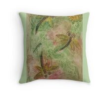 Dragonfly Cotton Candy Throw Pillow
