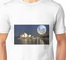 Super moon over the Sydney Opera House Australia Unisex T-Shirt