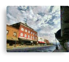 Parting Clouds Over Franklin, NC Canvas Print