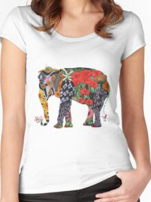 Ms Ele Phant Women's Fitted Scoop T-Shirt