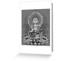 Siddartha Buddha Halftone Greeting Card
