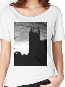 Black and White Photograph Of Exeter Cathedral Women's Relaxed Fit T-Shirt