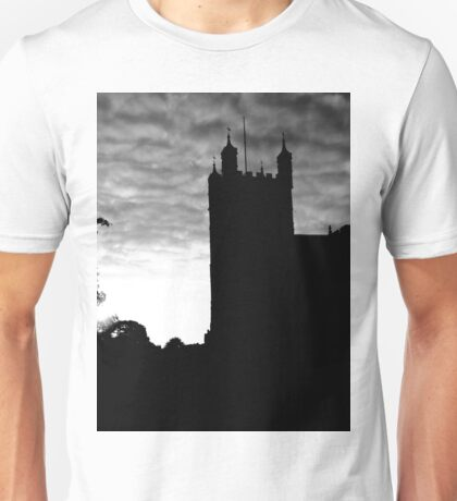 Black and White Photograph Of Exeter Cathedral Unisex T-Shirt