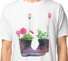 Old shoes with flowers Classic T-Shirt