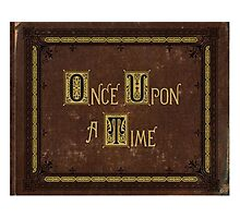 Once Upon a Time - Henry's Book Photographic Print
