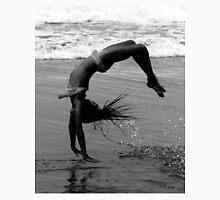 Beach girl acrobat in monochrome somersault Unisex T-Shirt