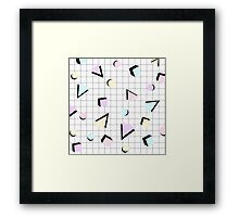 80s Geometric Framed Print