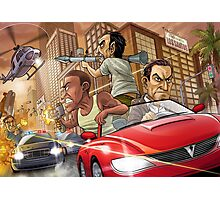GTA V Poster, Cover & More Photographic Print