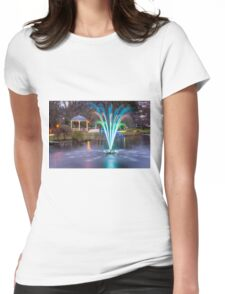 Fountain Light Show Womens Fitted T-Shirt