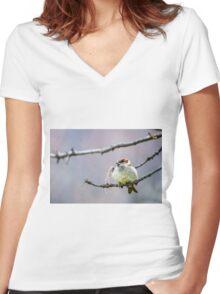 Feeling Full Women's Fitted V-Neck T-Shirt