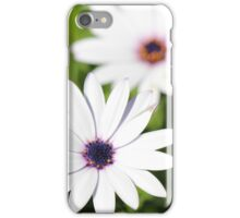 White Flower Upon Green Grass iPhone Case/Skin