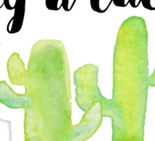 Hug a cactus! Yes, YOU! Sticker