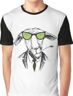 Fashion Portrait of donkey Hipster, Graphic T-Shirt