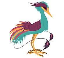 Colorful crane Photographic Print