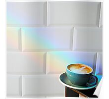 Coffee at the end of the rainbow Poster