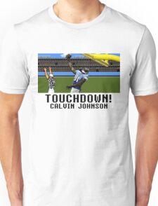 Tecmo Bowl Touchdown Calvin Johnson Unisex T-Shirt