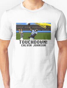 Tecmo Bowl Touchdown Calvin Johnson T-Shirt