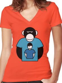 Planet Apes-man Women's Fitted V-Neck T-Shirt