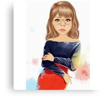Painted girl, animation, women Canvas Print