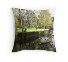 Vire Island, Totnes, Devon Throw Pillow