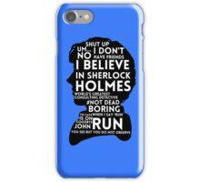 BBC Sherlock Holmes Quotes iPhone Case/Skin