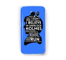 BBC Sherlock Holmes Quotes Samsung Galaxy Case/Skin