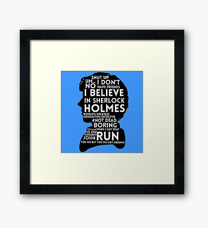 BBC Sherlock Holmes Quotes Framed Print