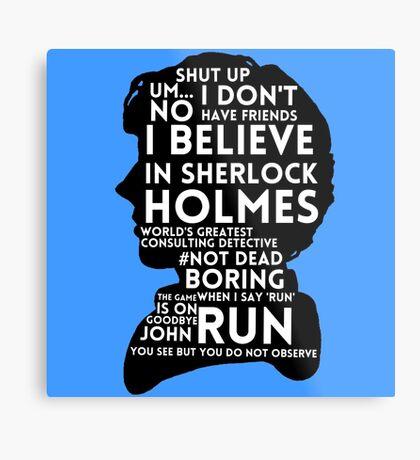 BBC Sherlock Holmes Quotes Metal Print