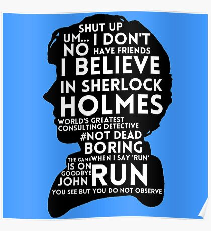 BBC Sherlock Holmes Quotes Poster