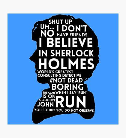 BBC Sherlock Holmes Quotes Photographic Print