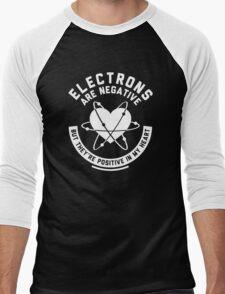 Electrons Are Negative Men's Baseball ¾ T-Shirt