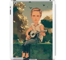 Painted boy, animation, man,guitar, singer iPad Case/Skin