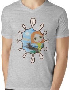 Oh, Such Happiness Mens V-Neck T-Shirt