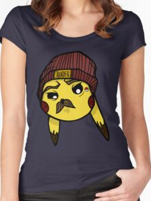 MustaCHU Women's Fitted Scoop T-Shirt