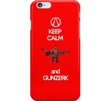 Keep Calm and Gunzerk iPhone Case/Skin